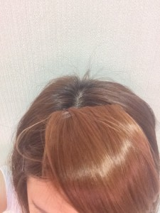 前髪ウィッグの不自然な境目