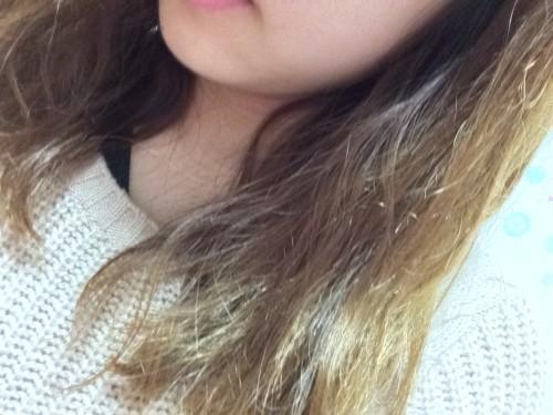 大島椿の髪への使用前
