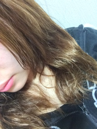 大島椿の髪への使用後
