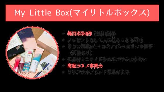 MyLittleBox(マイリトルボックス)の説明