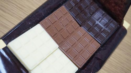 ビターチョコレート、ミルクチョコレート、ホワイトチョコレート