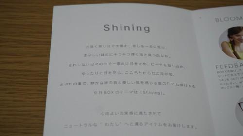 今月のテーマは「Shining」