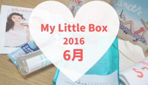 2016年6月のMy Little Boxが届きました!今月はビーチにそのまま持っていけるようなBOXです♪