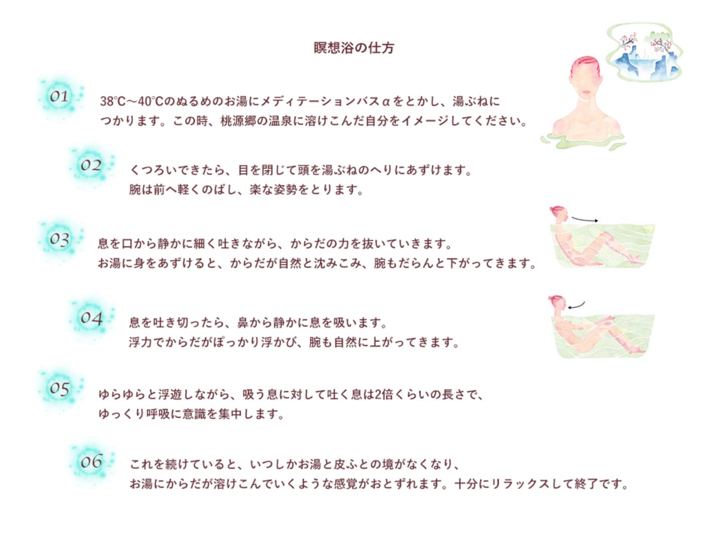 瞑想浴のやり方