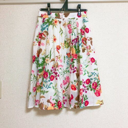 PREFERER 花柄フレアスカート