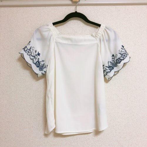 Fabulous Angela 袖刺繍白トップス