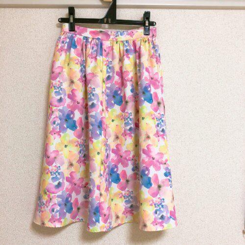 dazzlin 花柄スカート