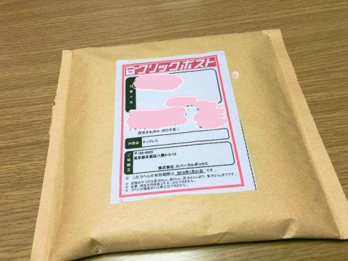 スパークルボックスがポスト投函で届いた袋