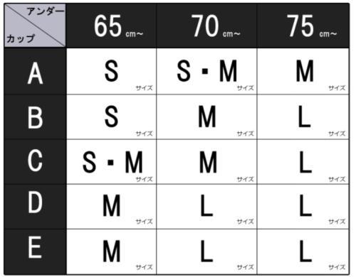 レスタリアージュボリュームアップブラのサイズ表