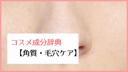 コスメ成分辞典【角質・毛穴ケア成分】