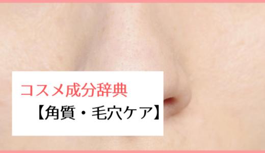 【角質・毛穴ケア成分】コスメ成分辞典