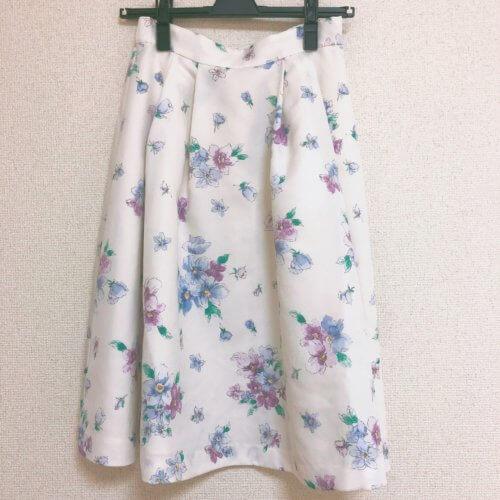 LAISSE PASSE 花柄スカート
