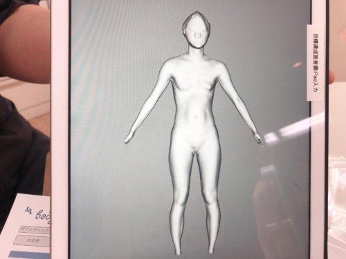 ありすの3Dボディグラフィカ(前)