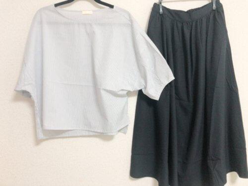 ドルマンブラウスとギャザースカート