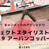 キャンメイクのアイシャドウ。パーフェクトスタイリストアイズ19アーバンコッパー【口コミ感想】
