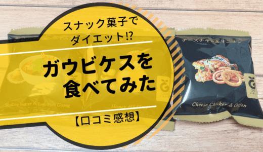 スナック菓子で置き換えダイエット⁉ガウビケスを食べてみた【口コミ感想】