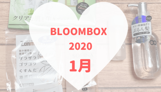 【BLOOMBOX2020年1月中身】なんかパッとしない内容・・・💦