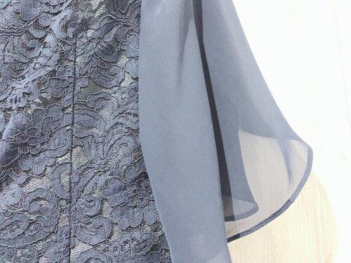 チューリップスリーブレースワンピースの袖